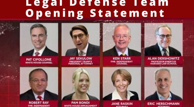 WATCH: President Trump's Legal Defense Team Opening Statement