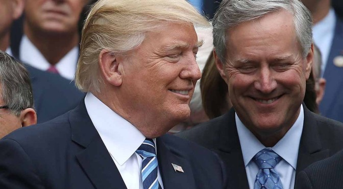 Rep. Mark Meadows Will Take Over as White House Chief of Staff