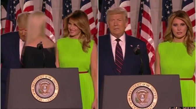 Watch Melania Trump greet her step-daughter Ivanka at Trump's RNC speech