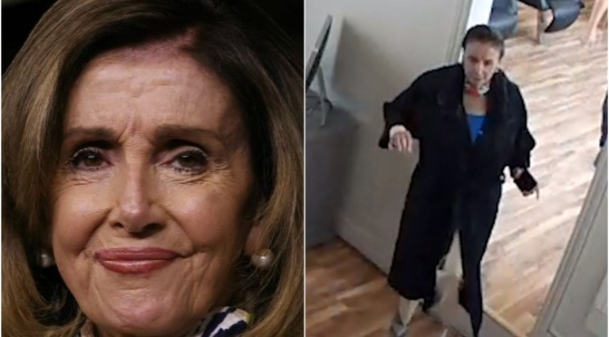 Nancy Pelosi, with wet hair and not wearing a face mask, in a closed San Francisco salon