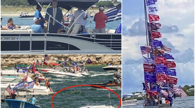 Several boats sink at Trump boat parade on Texas lake