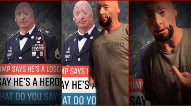 'Stop Using My Image': Wounded Vet Demands His Face Be Taken Off 'Propaganda'